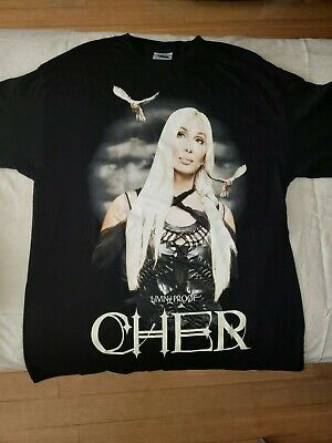 Cher Concert T-shirt Living Proof Farewell Tour 2003 size Large L NEW NEVER WORN