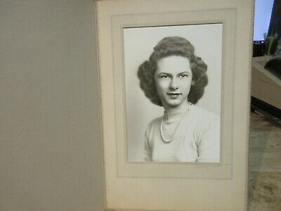 Antique Old CABINET PHOTO Picture Barberton Ohio Beautiful Young Woman Girl Lady