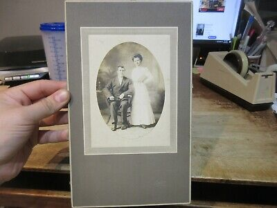Antique Old CABINET PHOTO Picture Berne Indiana Wedding Marriage Bride Groom ?