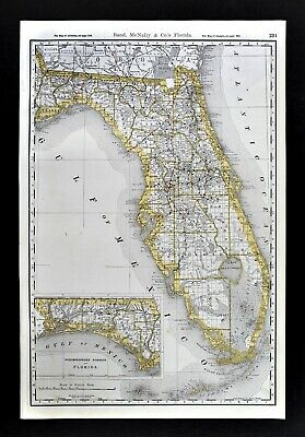 1861 IL MAP Inverness Island Lake Itasca Jacksonville Jerseyville Johnsburg HUGE