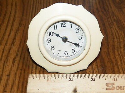 Vintage LUX Wind-Up Clock w Celluloid Body