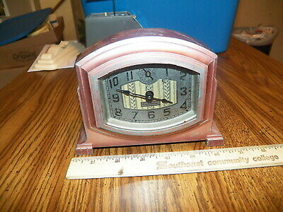 Antique E. INGRAHAM CO. Metal Alarm Clock - AS IS
