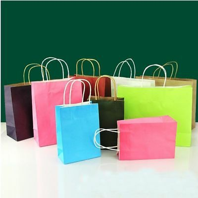 5Pcs Luxury Party Bags Kraft Paper Gift Bag Recyclable Loot Bag With Handles