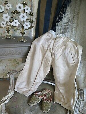 Frankreich Antik Kniebundhose PARIS Seide Antique French Men`s Trousers Pants