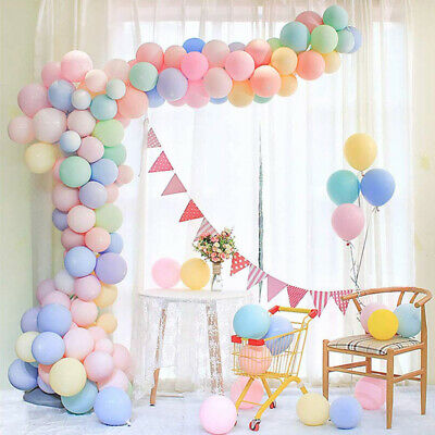 100pcs 5In Macaron Latex Birthday Wedding Party Baby Shower Decoration Balloons