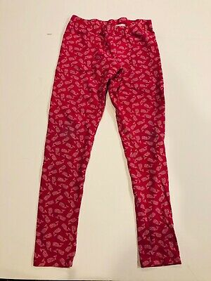 VINEYARD VINES Girls Bright Pink Whale Print Leggings- Size 14 Large- Ret $40