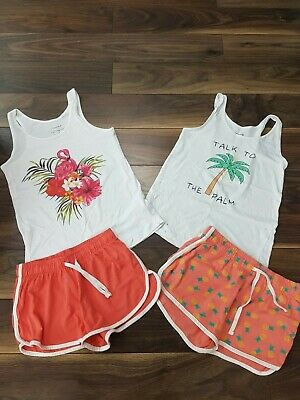 Girls Ladies Primark Shorts Vests Tops Summer Holiday Outfits - UK 4-6
