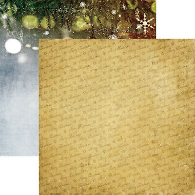 Paper CHRISTMAS Graphic45 STARRY NIGHT 12x12 Dbl-Sided Scrapbooking 2pcs