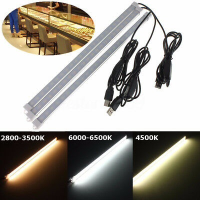 5V USB 35CM 24 SMD 5630 LED Under Cabinet Rigid Strip Hard Bar Light Tube  V