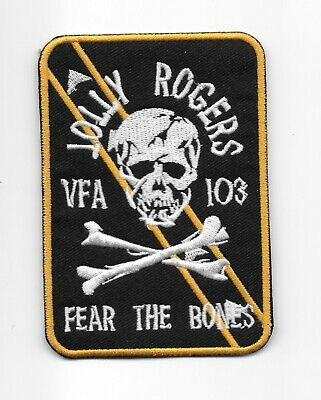 """US Navy VFA-103 Jolly Rogers """"Fear The Bones"""" Squadron patch"""