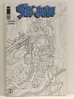 Spawn 270 NM sketch variant black & white cover Todd McFarlane 270B