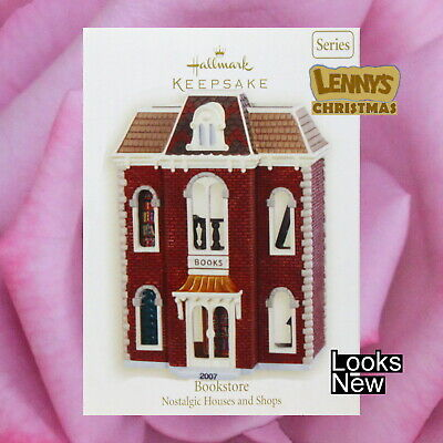 Hallmark Ornament, 2007 Bookstore, Nostalgic Houses & Shops, Looks New