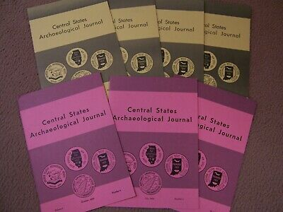 7 Early Copies Of The Central States Archaeological Journal 1959, 1960