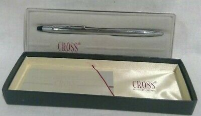 Vintage Cross Classic Century Lustrous Chrome Ballpoint Pen With Box