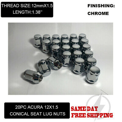 20pcs 12x1.5 Open Ended Lug Nuts fits Acura CL ILX Integra Legend MDX RL TL TSX
