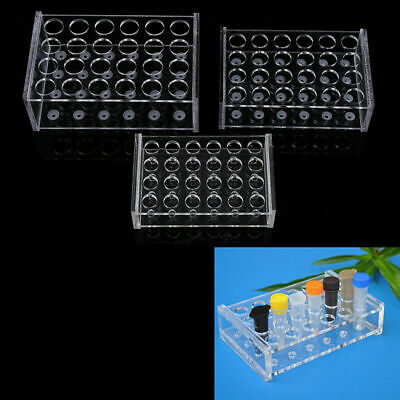 Acrylic 24Holes 2 Layers Lab Test Tube Rack Holder Centrifugal Pipe Stand Lab