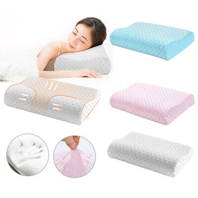 Bamboo Contour Cervical Pillow Neck Back Spine Support Cover Memory Foam AU