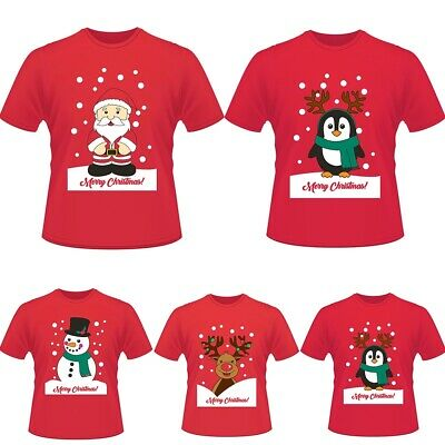 BZ WOMEN LADIES CHRISTMAS GLITTER RUDOLPH PRINT T SHIRT FESTIVE NOVELTY XMAS TOP