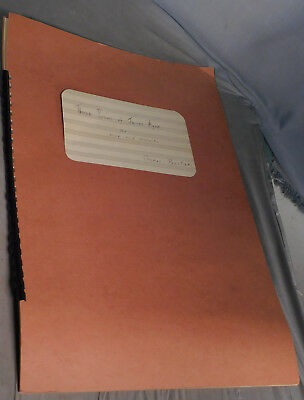 Original Ozalid Manuscript Music Score Thomas Pasatieri 3 Poems of James Agee