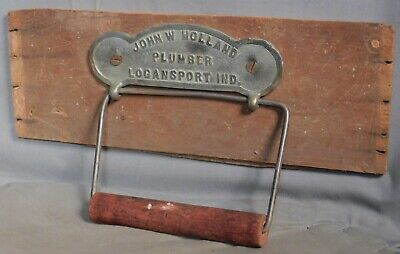 Antique Nickel Brass Toilet Paper Holder Logansport Indiana Bathroom Plumber