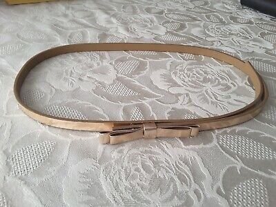 Ted Baker Girl's Gold Metallic Belt From Distinguishing Rose Playsuit Age 10 Yrs