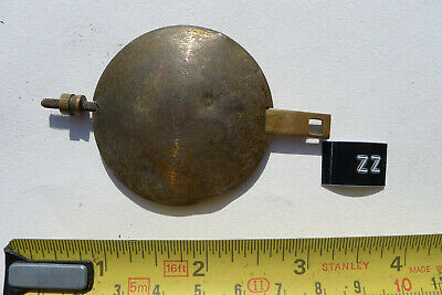 zz) MANTEL clock pendulum chiming/striking Original Vintage/Antique Brass bob