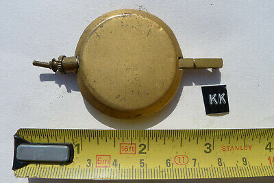 kk) MANTEL clock pendulum chiming/striking Original Vintage/Antique brass