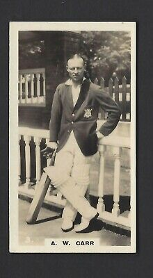 Wills (Nz) - English Cricketers - #3 A W Carr, Nottinghamshire