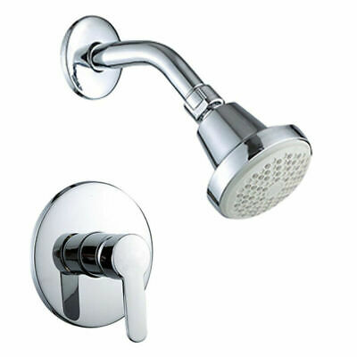 """1/2"""" DN15 Spray Tub Shower Faucet Kit With Hot/Cold Control Handle Valve Modern"""