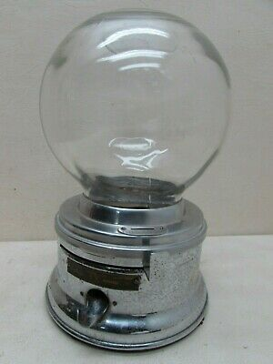 Vintage Penny 1c FORD Gum and Machine Co Counter Gumball Chrome Glass Bubble