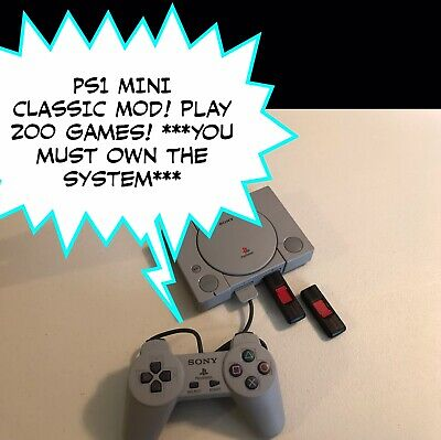 PS1 Classic Mod - USB Drives - Plug N Play - 200 Games! - PlayStation - Read!