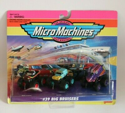 Galoob Micro Machines Big Bruisers 1996 NOS Bandit Bone Crusher Lazer