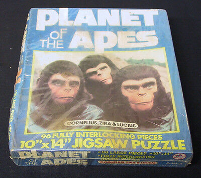 Nos Vintage 1967 Planet Of The Apes 96 Piece Jigsaw Puzzle Cornelius Zira Sealed