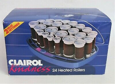 Vtg Clairol Kindness 24 Flocked Velvet Hot Rollers Curlers Pageant NEW IN BOX