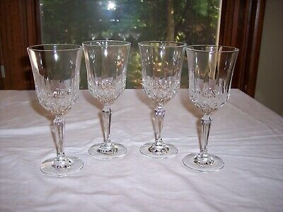 """Set of 4 Anchor Hocking 8"""" Legacy Clear Crystal Water Goblets"""