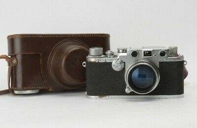 Leica IIIC w/ Summitar 5cm f2 Lens - Vintage Camera w/ Leather Case