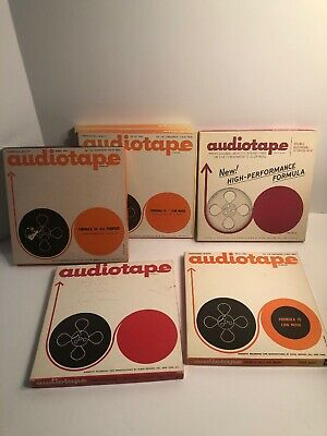 "6 Audiotape Recording Sound Tape 7"" Reel to Reel USED"