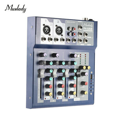 Professional 4 Channels BT DJ Mixer Sound Mixing Console With USB 3-Band G8R5