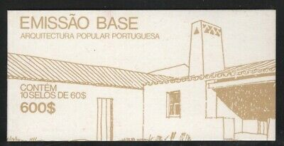 Portugal 1987 $600 Traditional Architecture booklet Sc# 1645 NH