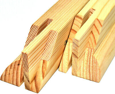 CANVAS STRETCHER BARS 44mm PAIRS GALLERY FRAMES + WEDGES CANVASES PINE BAR