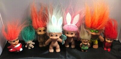 Vintage 90's Lot Of Trolls X 7 - In Great Used Condition