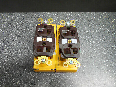 Lot Of 2 Hubbell Hbl5462 Duplex Receptacle 2P 3W Grounding 20A 250V Nema 6-20Rr