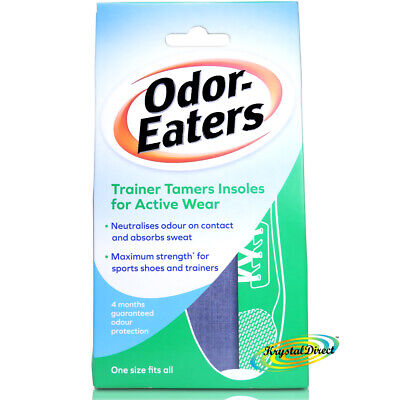 Odor Eaters Trainer Tamers Washable Shoe Odour Super Strength Sports Insoles