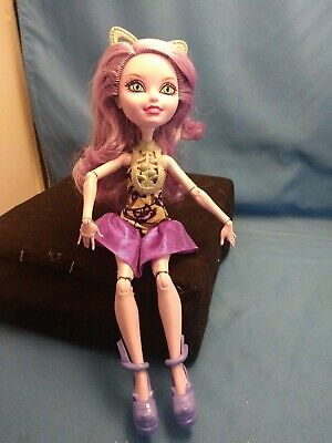 Monster High Ever After High Kitty Cheshire Book Party Mattel Doll Retired HTF