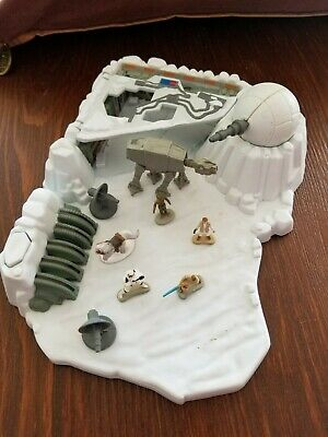 star wars vintage 1994 micro machines ice planet hoth playset complete