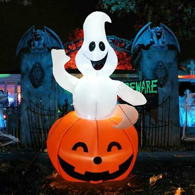 Halloween Inflatable Ghost in Pumpkin 4.5ft Airblown Indoor Outdoor Yard Decor