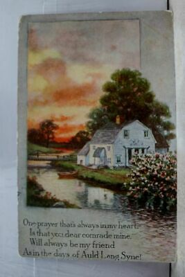 Greetings Auld Lang Syne Dear Comrade Mine Postcard Old Vintage Card View Post