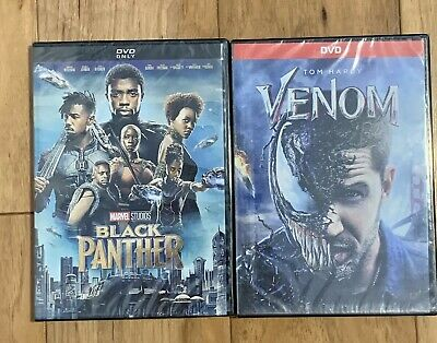 Marvel Studios: Black Panther & Venom DVD Combo **GREAT DEAL* * FREE SHIPPING**