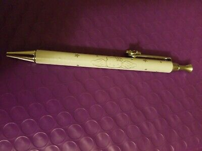 Hello Kitty Sanrio 2001 Metal White/Silver Mechanical Pencil Very Gem Star WORKS