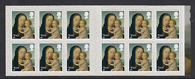 GB 2017 12 x 2nd CLASS CHRISTMAS S/A MADONNA & CHILD CYLINDER BOOKLET LX54